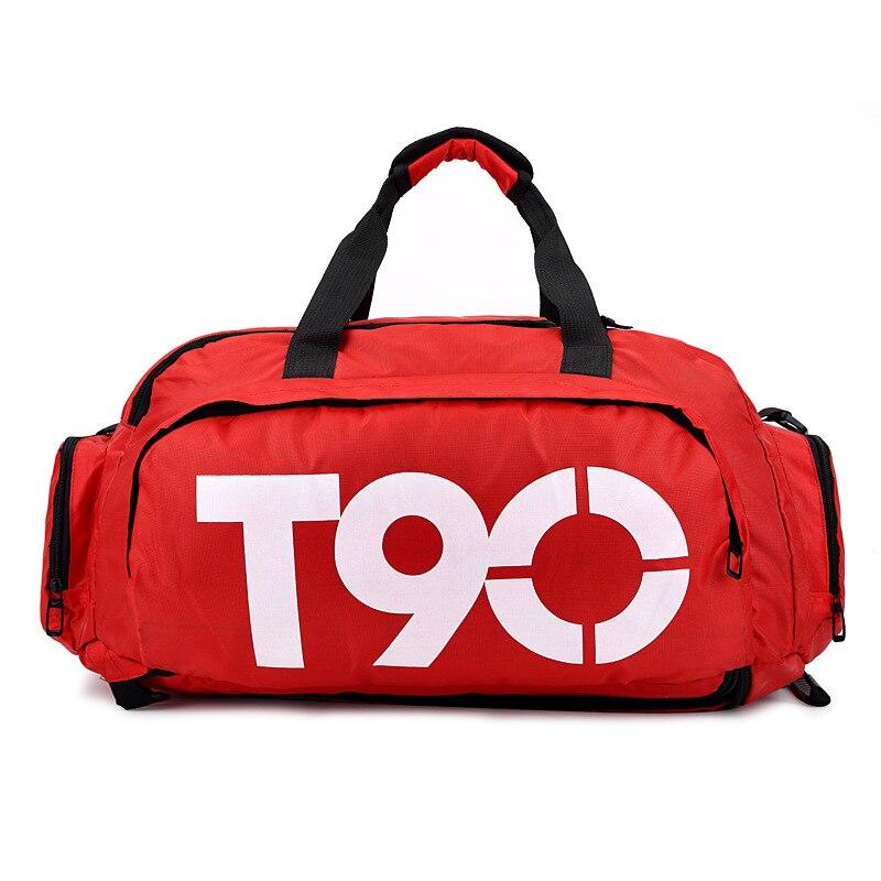 T90 impermeable gimnasio deportes bolsas hombres mujeres molle entrenamiento físico mochilas multifuncional viaje/equipaje bolsa bolsos del hombro