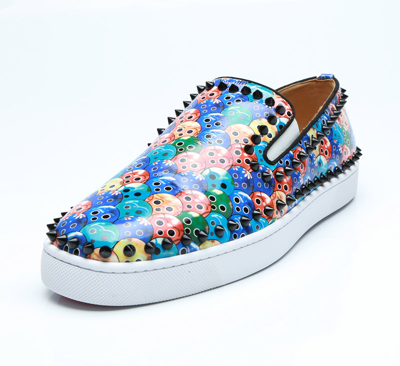 Mocassin homme spring autumn thick bottom slip on causal blue spiked loafers studded formal dress print leather sneakers Mocassin homme spring autumn thick bottom slip on causal blue spiked loafers studded formal dress print leather sneakers