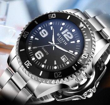2018 Luxury Brand Waterproof Military Sport Watches Men Silver Steel Digital Quartz Analog Watch Clock Relogios Masculinos