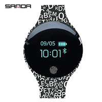 SANDA Bluetooth Pedometer Bracelet Smart Watch Men LED Digital Watch Soft Silicon Men Smart Sport Watches for IOS Android