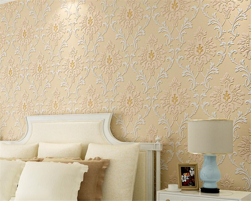 beibehang european rural wallpaper bedroom wallpaper 3d