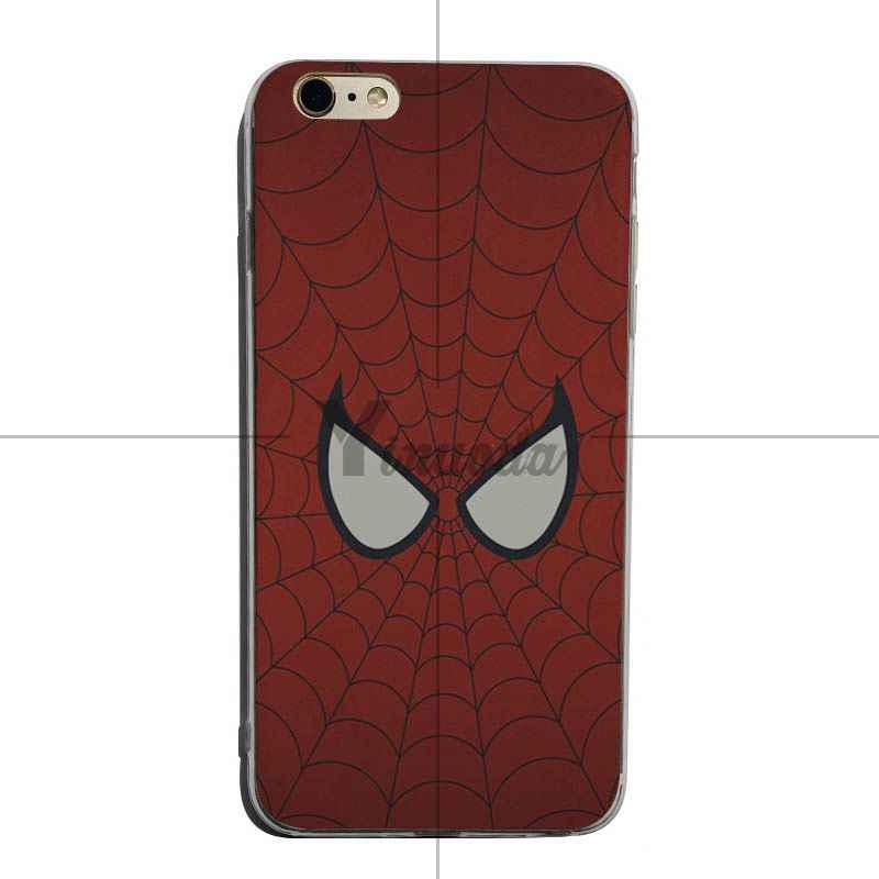 Yinuoda العنكبوت رجل من المنتقمون الأصلي شفافة غطاء هاتف بولي يوريثان حراري ناعم ل فون XSMax X XS XR 7 7 زائد 8 8 زائد 6 6 ثانية 6 زائد