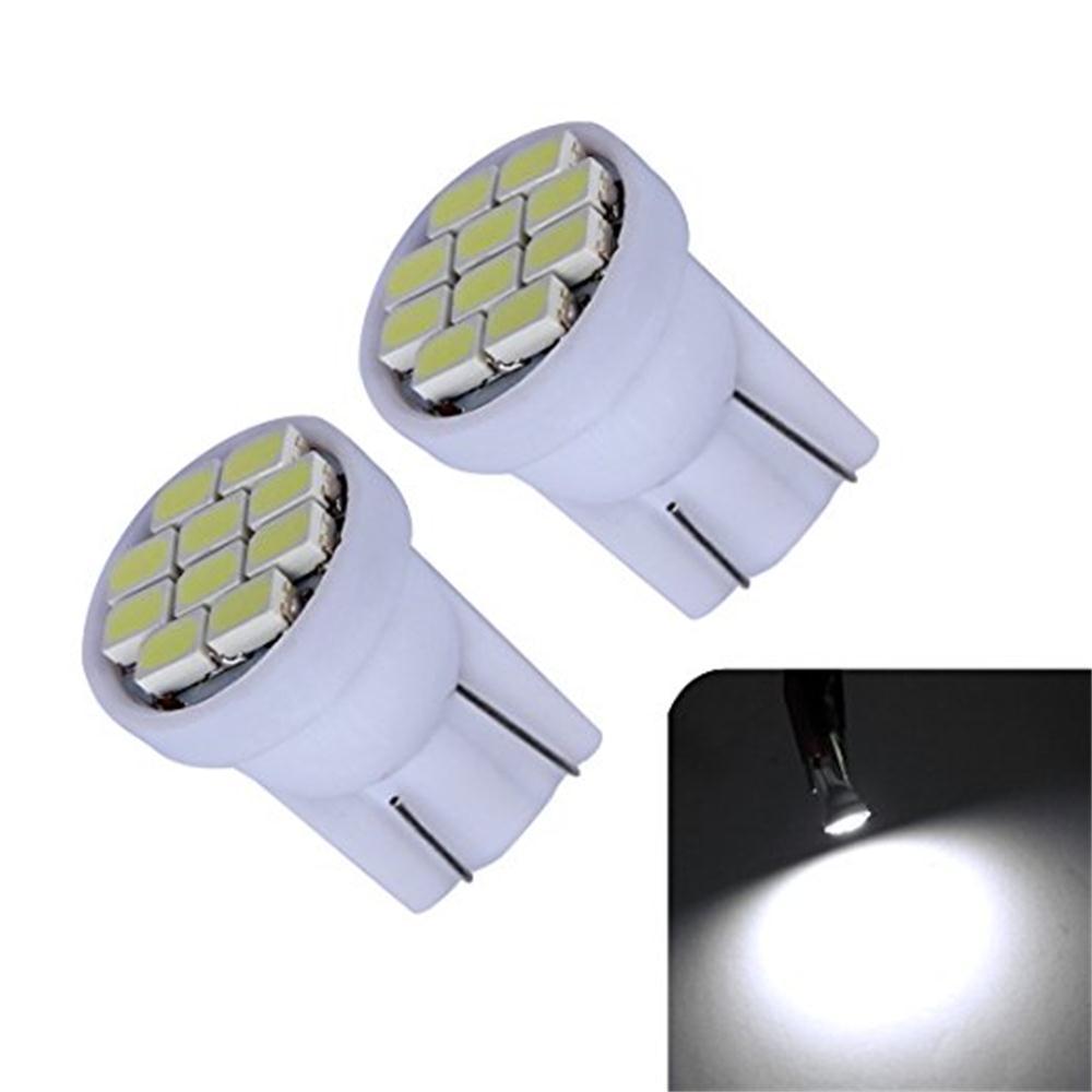 Professional Automotive lighting manufacturer clearance!! 100 x T10 10 SMD LED bulb 194 168 1206 signal lights Wedge Fog Lights Instrument Interior Lighting Stop Lamp
