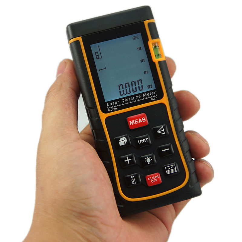 SW-E80 Free Shipping Tape Measure Laser Range Finder 80M LCD Display Laser Distance Meter Digital Range