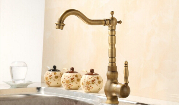 ФОТО Europe style single lever total brass bronze finished hot and cold kitchen sink faucet,basin faucet