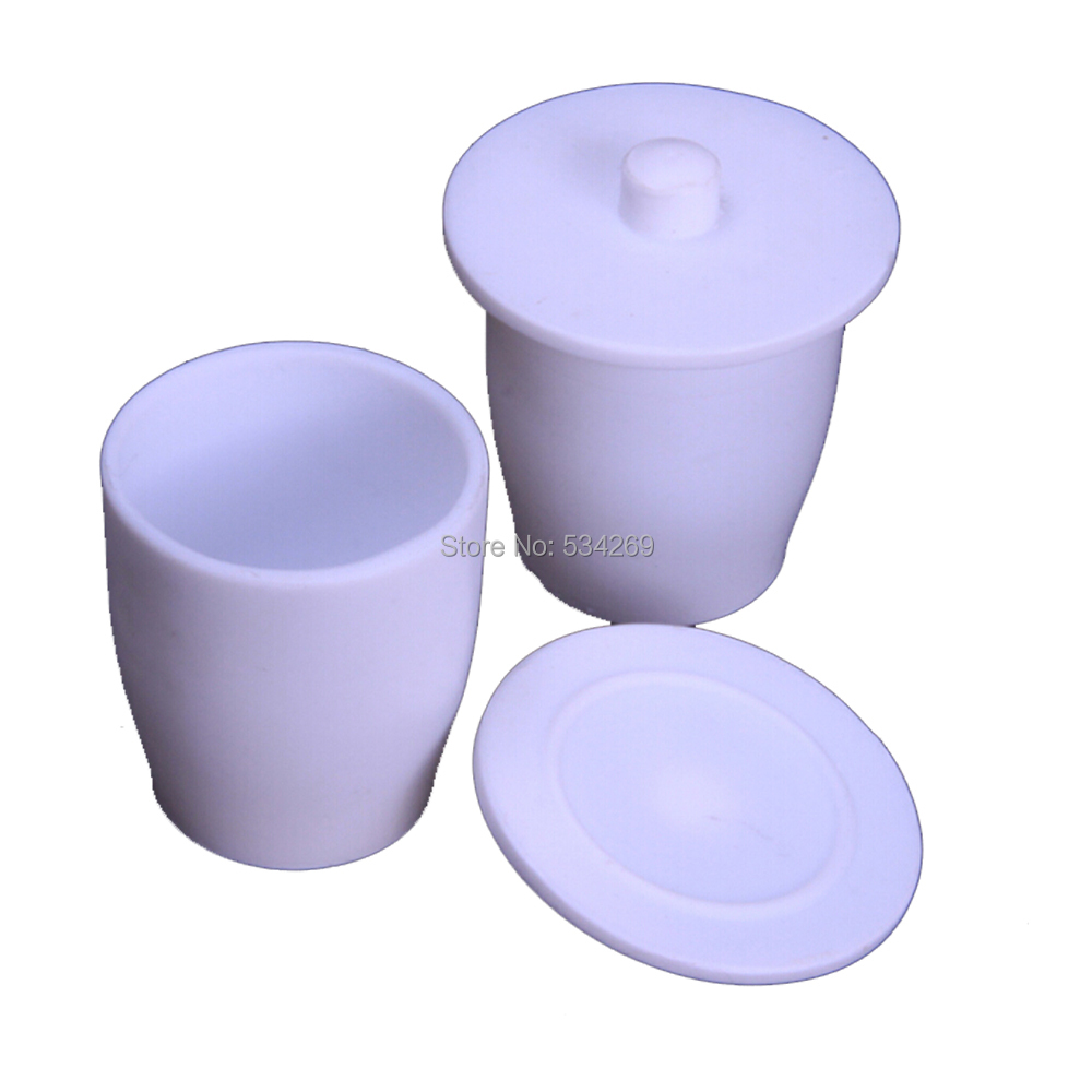 100ml PTFE Crucible with Cover Lid Teflon Laboratory Crucible for Chemistry Experiment 10ml ptfe teflon crucible breakers with cover
