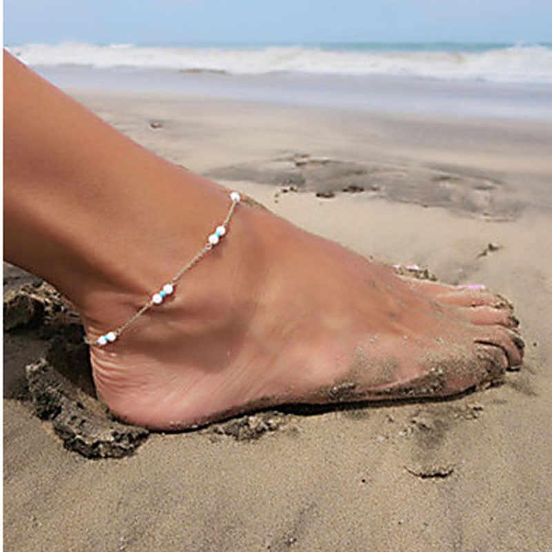 Vintage Moda Kristal Halhal Kadınlar Için Paslanmaz Çelik Ayakkabı Çizme Zinciri Bilezik ayak takısı Dropshipping Sıcak Satış 533