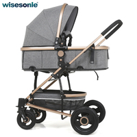 Rubber Wheels Baby Stroller Carriage Baby Cart With Spring Shock Proof System 5 Color For Available
