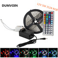 DUMVOIN Non-Waterproof 16.4ft 5M RGB 300leds 3528 SMD LED Strip+44 key Wireless IR Remote Controller+12V 2A Power Adapter