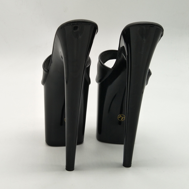 Talons Laijianjinxia D'été Nouvelle Cristal Bout Diapositives Mules Pantoufles Dames 20 De À Noir Femmes Mode Chaussures Mince Cm Ouvert XXFgwr