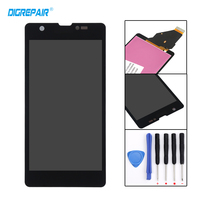 100 Tested Black For Sony Xperia ZR M36h C5503 C5502 LCD Display Touch Screen Digitizer Assembly
