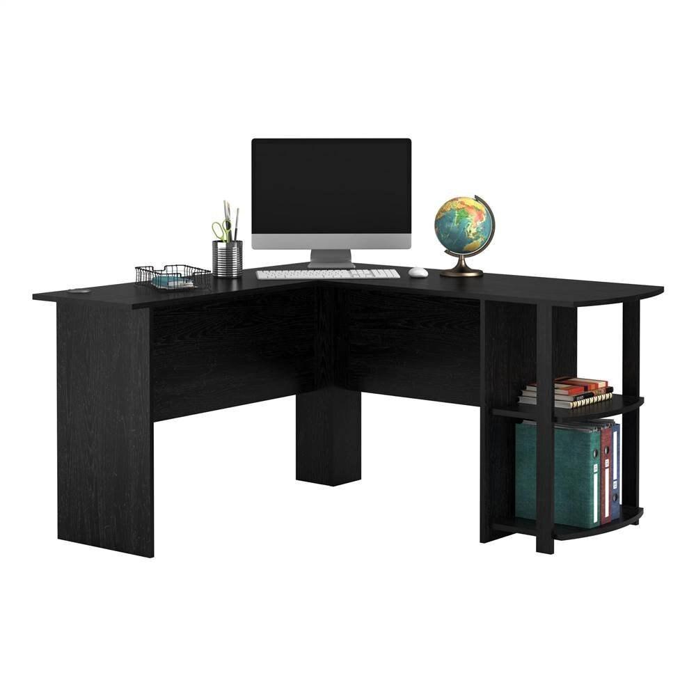 Fch L Shaped Corner Computer Desk Wood