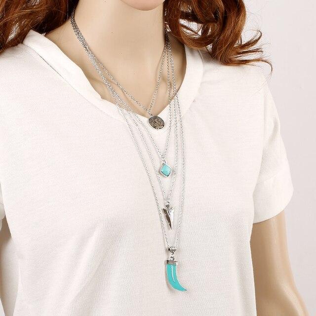 Купить ожерелье с кулоном toucheart тибетский серебристый цвет многослойное картинки