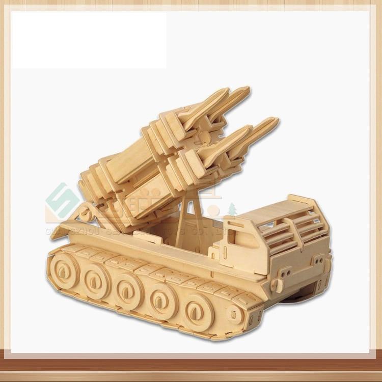 DIY 3D Деревянный Патриот ракета Пазл деревянный колесница пазл Игрушка развивающая деревянная игрушка ручной работы Пазлы Танк серии