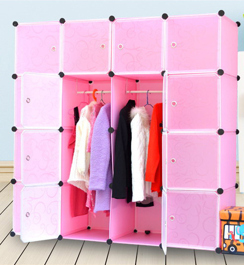 2016 Armadio Armoire 16 Cubes Shoes And Clothes Boxes Bins Corner Cabinets  Wardrobes Closet Storage Diy Device Plastic Wardrobe  In Wardrobes From  Furniture ...