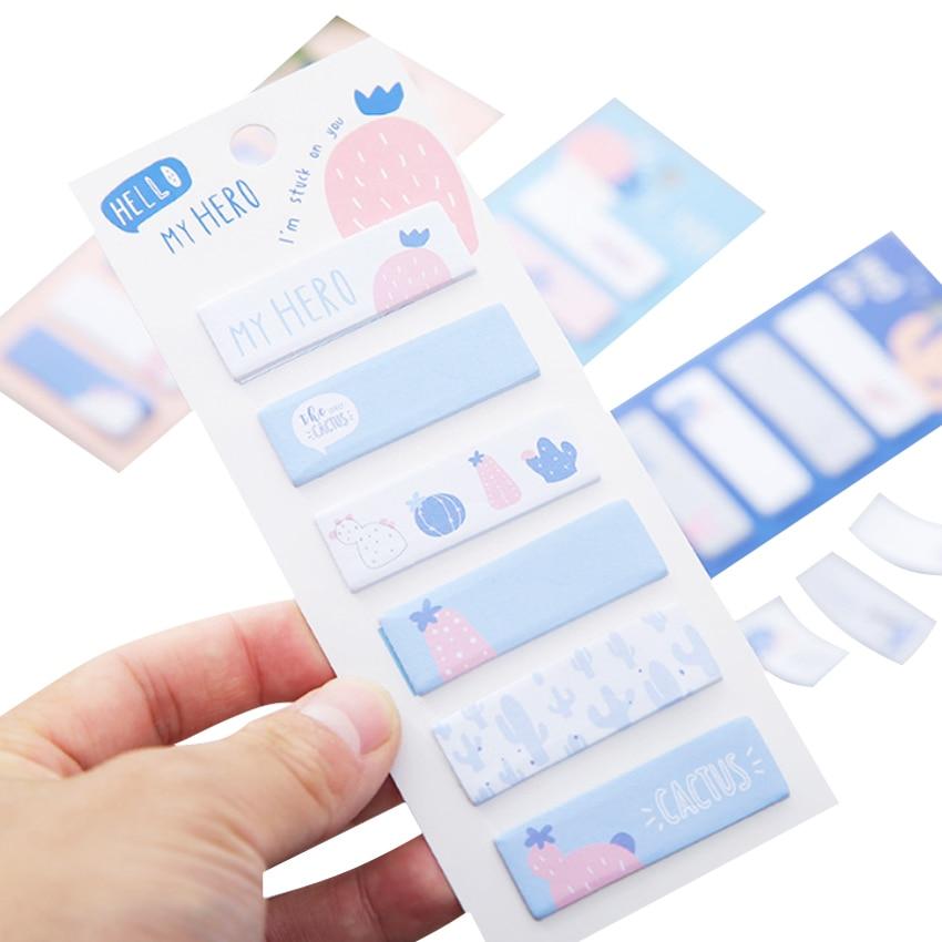 1 pacote/lote Cactus Kawaii Mini Memo Etiqueta de Papel do bloco de Notas bloco de Notas Bonito Marcador de Papel Mensagem Rótulo Rótulo de Lembrança Do Presente Do Partido