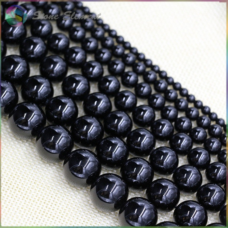 Natural Black Tourmaline Loose Round Beads 4mm,6mm,8mm,10mm,12mm
