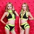Ds moda traje Sexy dj girou serviço jazz Cor Neon Conjunto de dança