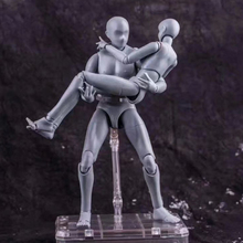 28cm1/6 SHE Movable body Male Female joint Action Figure Toys Gray Deluxe Edition painting Anime model doll Mannequin Art Sketch