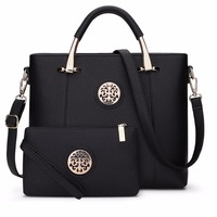 Women Bag Set Top Handle Big Capacity Female Handbag Fashion Shoulder Bag Purse Ladies PU Leather Crossbody Bag