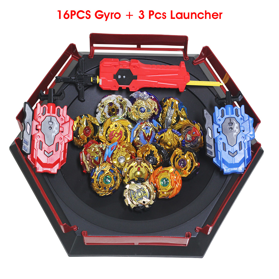 Gold Version Beyblade Burst Toys Arena With Launcher Blade Metal Fusion God Spinning Top Bey Blades Stadium TAKARA TOMY Toy