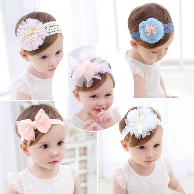 Baby Cute Headband Newborn Kids Floral Hair Accessories Toddler Headband Ribbon Elastic For Girls Headwear Photography Props