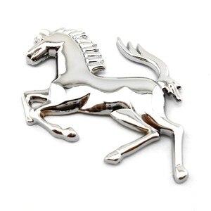 Image 4 - 3D Logo Zinc Alloy Metal Horse Emblem Sticker badge Emblem Decal For Ford Ferrari Car Window Bumper Body Sticker car styling