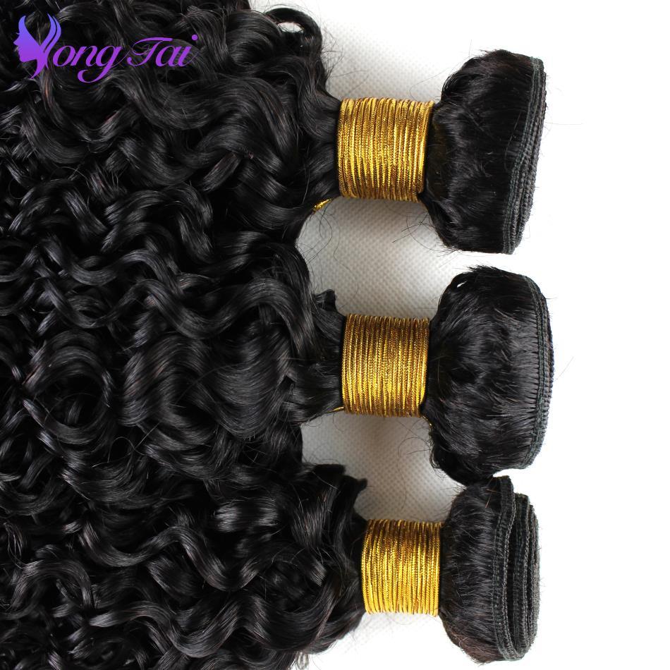 Перуанский афро курчавые переплетения Пряди человеческих волос для наращивания 100 г Remy ткань 3 Связки Natural Цвет yuyongtai пучки волос
