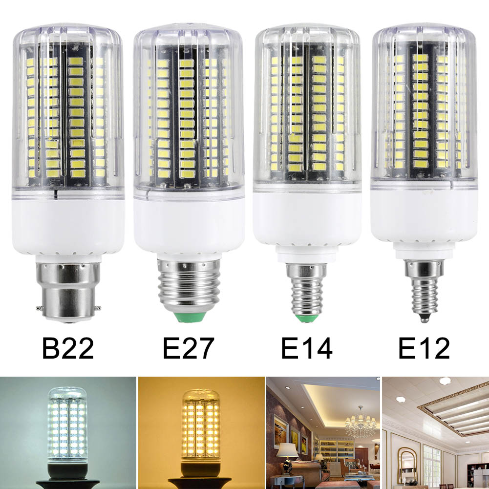 AC85 -265V B22/E12/E14/E27 7/9/12/15/18W SMD 5736 LED Corn Bulb 1400LM Energy Saving Lamp Home Decoration Light --M25 jiaderui e27 ac85 265v retractable flashlight rechargeable energy saving bulb 6 hours used 6w bulb multifunction emergency light