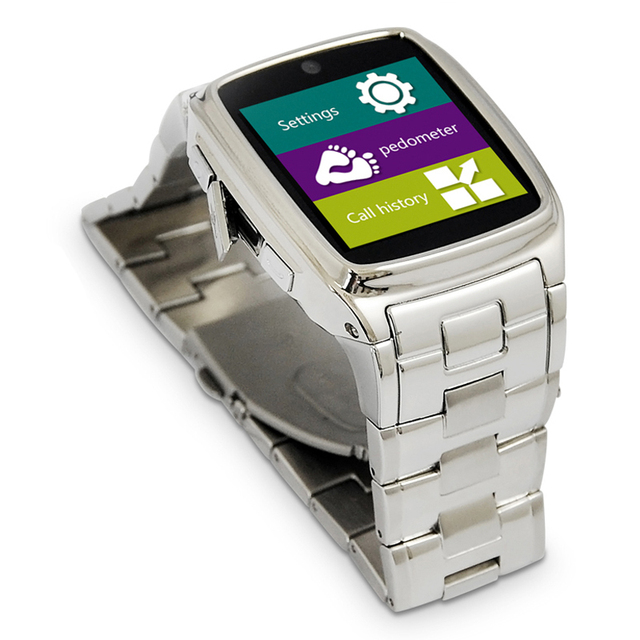 2017 Steel Belt Smart Phone Watch For Businessman Good Christmas Birthday Gift Hunsband