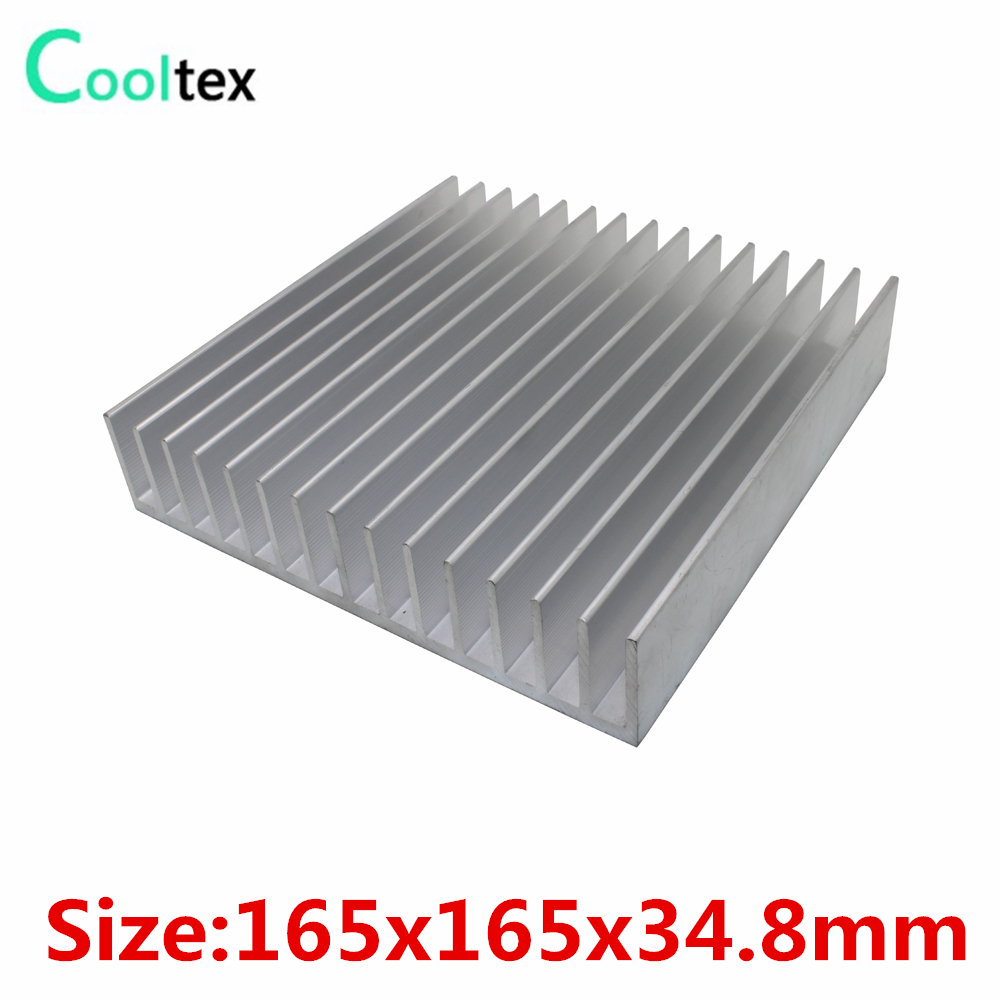 High power 165x165x34.8mm Aluminum HeatSink radiator for electronic Chip LED integrated circuit Heat Sink COOLER cooling high power 125x125x45mm aluminum heatsink heat sink radiator for electronic chip led cooler cooling recommended