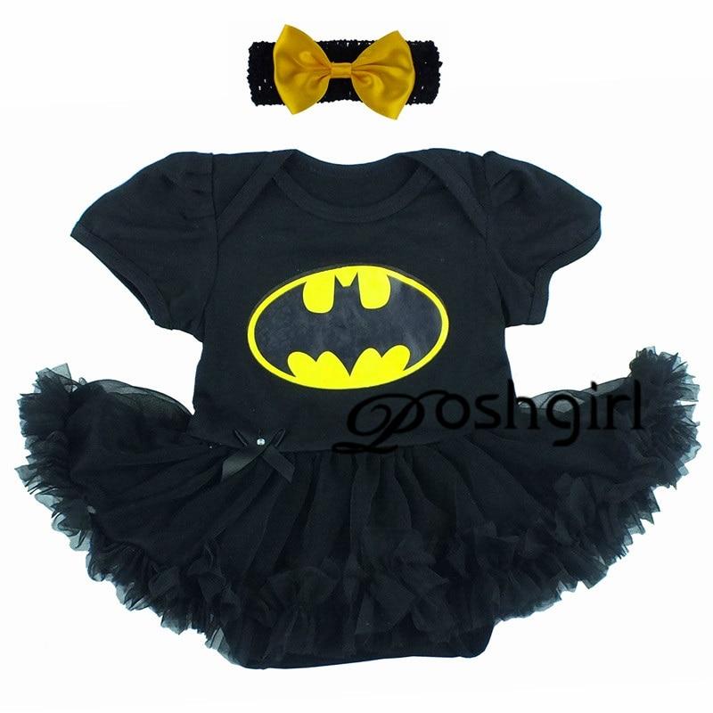 Retail Baby Girls Dress Cartoon Batman Superman Elsa Anna Toddler Infant Tutu Dress Kid Ruffle Tutu Vestidos short-sleeve Romper retail baby girls