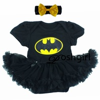 Venta al por menor de los bebés dress elsa anna cartoon batman superman niño infantil tutu dress niños vestidos del tutú de la colmena de manga corta mameluco