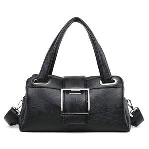 Image 2 - 패션 베개 여성 핸드백 미국의 인기있는 보라색 가방 새로운 간단한 레저 레이디 숄더 가방 캐주얼 성격 메신저 가방