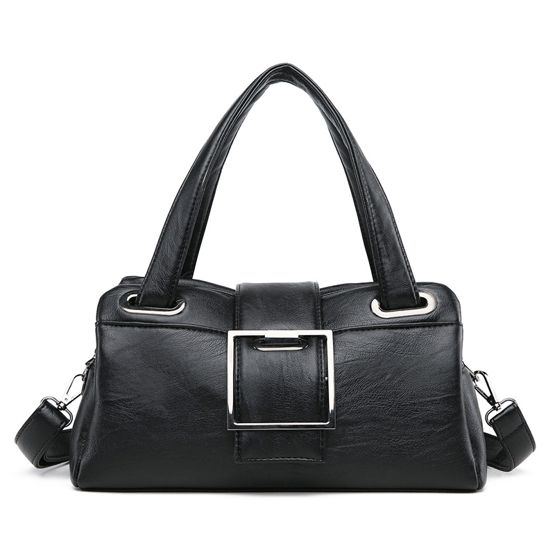 Image 2 - Fashion Pillow Women Handbags American Popular Purple Bag New Simple Leisure Lady Shoulder Bag Casual Personality Messenger BagShoulder Bags   -