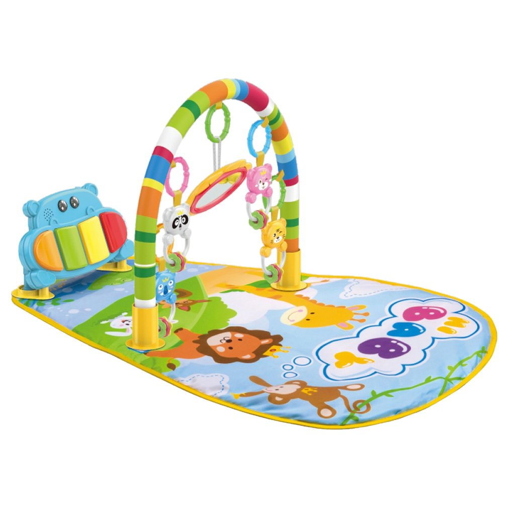 Baby Gym Frame Fitness Play Mat Game Pad Kick Play Piano With Pedals Children Music Crawling Playing Carpet Early Education Toys baby gym frame fitness play mat game pad kick play piano with pedals children music game playing gym toy for 0 1 year baby