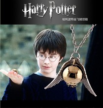 Classic movie &#8211; < harry potter and the snitch > &#8222;pendant necklace. Boys and girls the necklace of N &#8211; 15004 free shipping