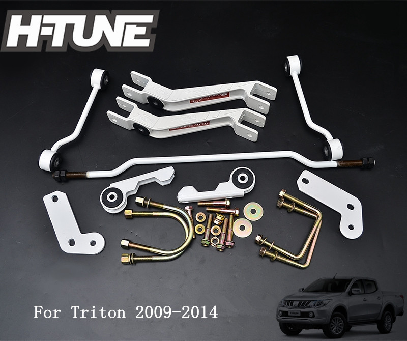 H-TUNE 4x4 Accesorios Anti-Sway Bar Rear Stabilizer Sport Kit Space Arm For Triton 2009-2014 h tune 4x4 accesorios 32mm front spacer and rear extended 2 inch g shackles lift up kits 4wd for triton l200 mk ml 06 14