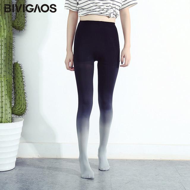 BIVIGAOS 120D Velvet Gradient Opaque Seamless Pantyhose Candy Color Tights 1
