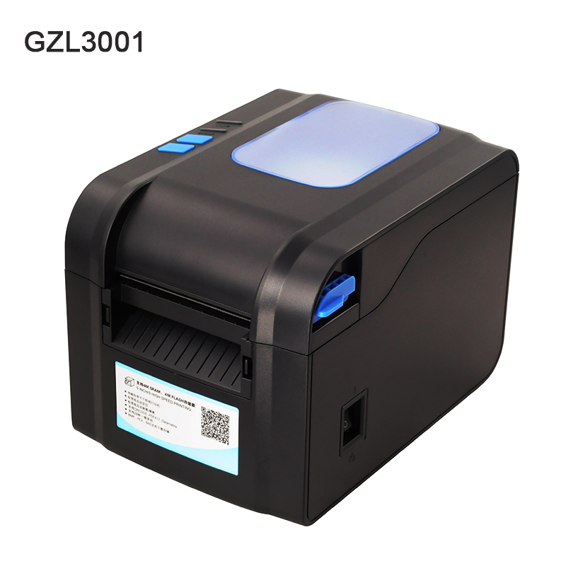 80mm 3 pouce Bar code autocollants thermique imprimante à transfert thermique imprimantes d'étiquettes bar code étiquette thermique autocollant imprimante GZL3001