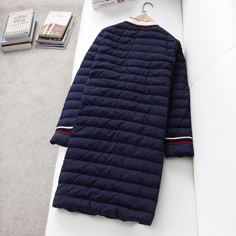 90% White Duck Down Jackets Women Long V neck Light Thin Slim Down Outwears Spring Autumn Ladies Sweet Down Coats YP2072-in Down Coats from Women's Clothing    2