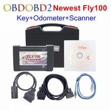 Новое прибытие fly100 fly 100 ключ иммобилайзер программист + системы двигателя + коррекция одометра + диагностический сканер для honda dhl бесплатно