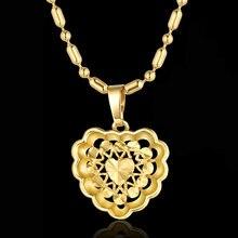 Подвеска в виде сердца и ожерелья романтическое ювелирное изделие
