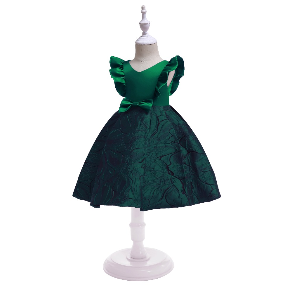 Floral Girl Dresses 2019 Summer Princess Costumes Wedding Child Clothing Ruffles Kids Dress For Girls Formal Prom Gowns 10 Years (9)