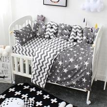 Детский комплект постельного белья с буквами на заказ, бампер, детская подушка, подушка, украшение для детской комнаты из чистого хлопка, детский Семейный комплект для кровати для детей