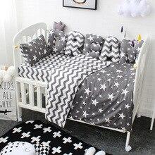 Baby Bettwäsche Set Benutzerdefinierte Brief Stoßstange Baby Kissen Kissen Baby Zimmer Dekoration Reine Baumwolle Kinder Krippe Kit Bett Set Für kinder