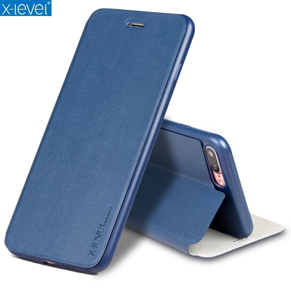 Fashion Slim Leather & TPU Flip Fodral för Apple iPhone 8 7 6 6s - Reservdelar och tillbehör för mobiltelefoner
