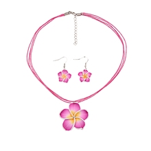 Multicolor Flower Resin Hook Drop Dangle Party Earrings Necklace