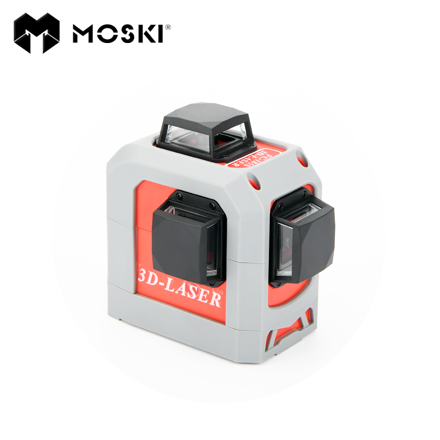 MOSKI ,12Lines 3D Laser Level Self-Leveling 360 Horizontal And Vertical Cross Super Powerful Red Laser Beam Line цена