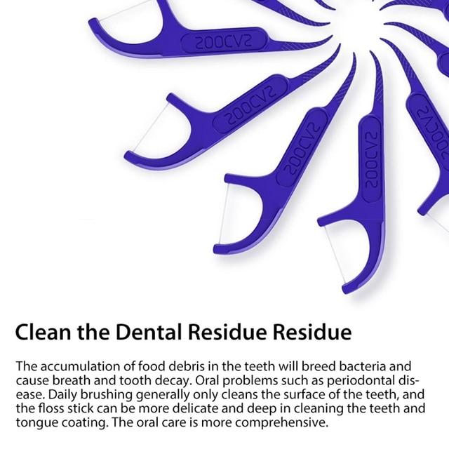 Xiaomi Soocare Dental Foss wybierz zęby wykałaczki Stick pielęgnacja jamy ustnej ergonomiczna konstrukcja FDA testowanie Food Grade 50 sztuka/pudło w magazynie